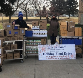 Holliday Food Drive Donation