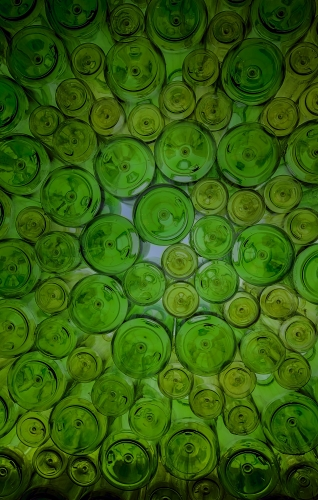 Glass Bottles Background